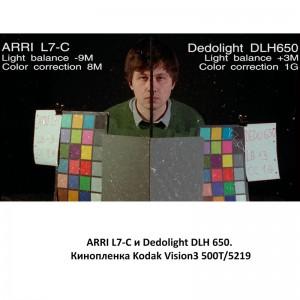 Arri L7-C Dedolight DLH650 Kodak Vision3