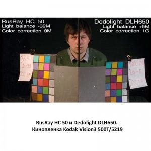 RusRay HC 50 Dedolight DLH650 Kodak Vision3