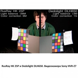 RusRay HK 25P Dedolight DLH650 Sony HVR-Z7