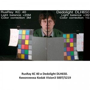 RusRay KC 40 Dedolight DLH650 Kodak Vision3