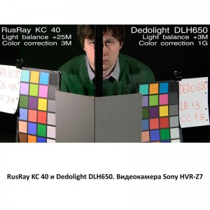 RusRay KC 40 Dedolight DLH650 Sony HVR-Z7